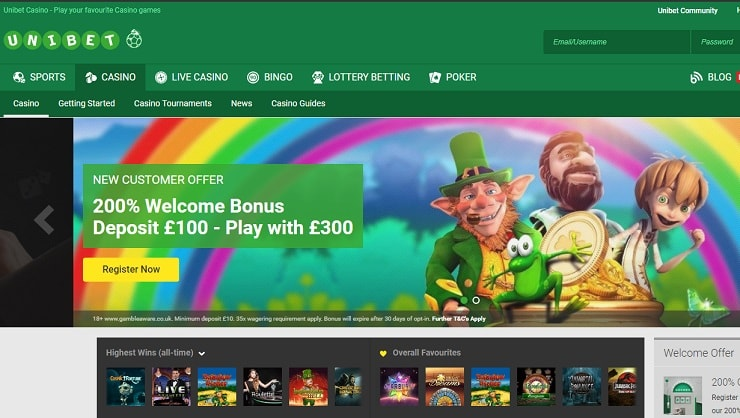 Unibet Casino Screenshot 1